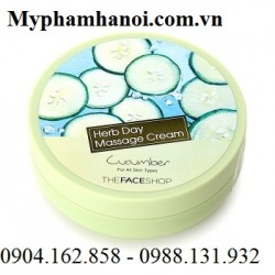 Kem Massage The Face Shop Herb Day Massage Cream Cucumber - Kem Massage The Face Shop Herb Day Massage Cream Cucumber